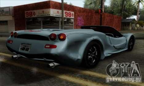Mitsuoka Orochi Nude Top Roadster для GTA San Andreas вид слева