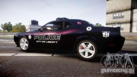 Dodge Challenger SRT8 Police [ELS] для GTA 4 вид слева