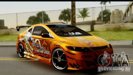 Honda Civic SI Juiced Tuned Shinon Itasha для GTA San Andreas