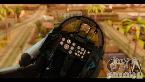 MIG-29 Fulcrum для GTA San Andreas вид сзади