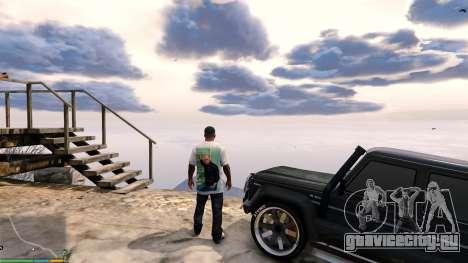 Футболка для Франклина - Физрук для GTA 5 третий скриншот