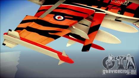 FA-18D Hornet RCAF Tigermeet для GTA San Andreas вид справа