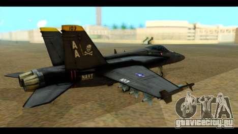 FA-18 Jolly Roger Black для GTA San Andreas вид слева