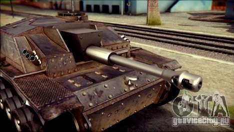 StuG III Ausf. G для GTA San Andreas вид сзади слева