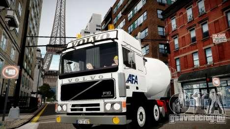 Volvo F10 cement truck для GTA 4 вид сзади слева