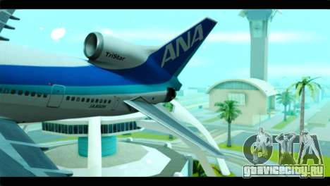 Lookheed L-1011 ANA для GTA San Andreas вид сзади слева