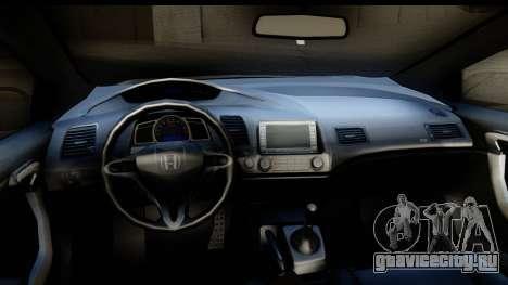Honda Civic SI Juiced Tuned Shinon Itasha для GTA San Andreas вид изнутри