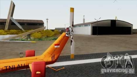 MBB BO-105 Basarnas для GTA San Andreas вид сзади слева