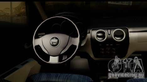 Dacia Lodgy 2014 для GTA San Andreas вид изнутри
