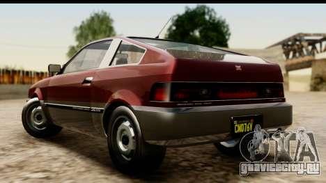 GTA 5 Dinka Blista Compact для GTA San Andreas вид слева