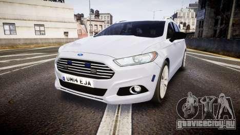 Ford Fusion Estate 2014 Unmarked Police [ELS] для GTA 4