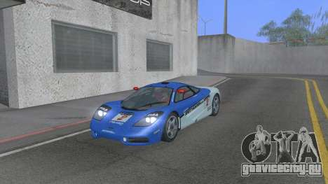1992 McLaren F1 Clinic Model Custom Tunable v1.0 для GTA San Andreas вид сверху