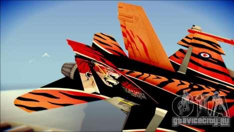 FA-18D Hornet RCAF Tigermeet для GTA San Andreas вид сзади слева