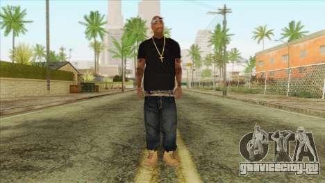 Tupac Shakur Skin v2 для GTA San Andreas