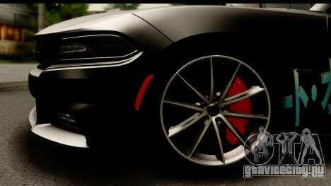 Dodge Charger RT 2015 Sword Art для GTA San Andreas вид сзади