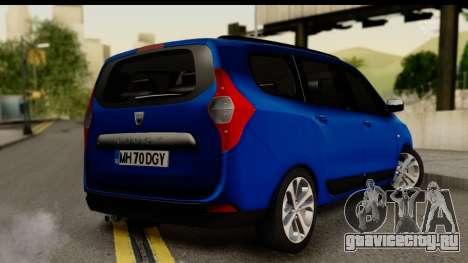 Dacia Lodgy 2014 для GTA San Andreas вид слева