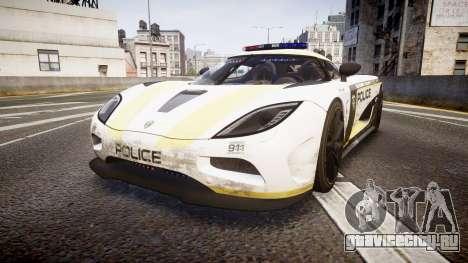 Koenigsegg Agera 2013 Police [EPM] v1.1 PJ2 для GTA 4