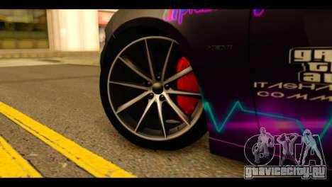 Dodge Charger RT 2015 Hestia для GTA San Andreas вид сзади слева