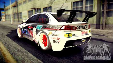 Mitsubishi Lancer Evolution X Juuzo Itasha для GTA San Andreas вид слева