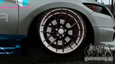 Honda CRZ Mugen Stance Miku Itasha для GTA San Andreas вид сзади слева