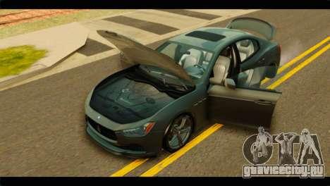 Maserati Ghibli S 2014 v1.0 SA Plate для GTA San Andreas вид сзади