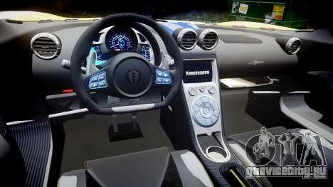 Koenigsegg Agera 2013 Police [EPM] v1.1 PJ2 для GTA 4 вид изнутри