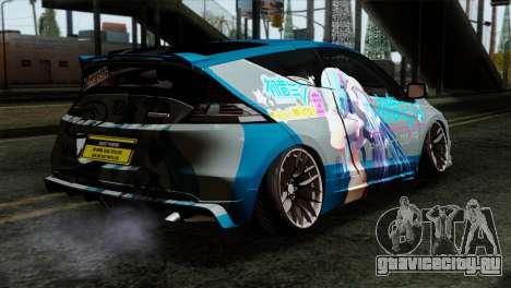 Honda CRZ Mugen Stance Miku Itasha для GTA San Andreas вид слева
