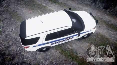 Ford Explorer Police Interceptor [ELS] slicktop для GTA 4 вид справа