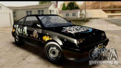 GTA 5 Dinka Blista Compact для GTA San Andreas вид сбоку