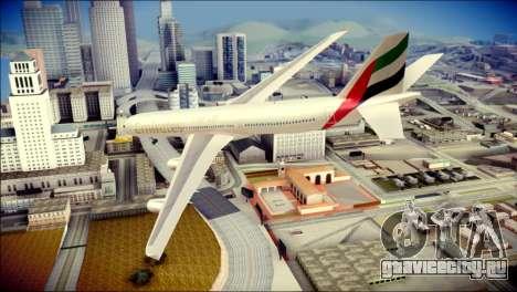 Airbus A340-300 Emirates для GTA San Andreas вид слева