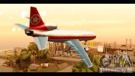 Lookheed L-1011 Air Canada для GTA San Andreas вид слева