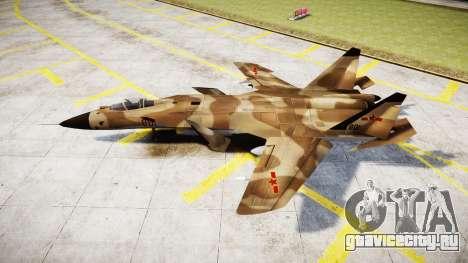 Су-47 Беркут desert для GTA 4 вид слева