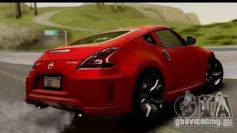 Nissan 370Z Nismo 2010 для GTA San Andreas вид слева