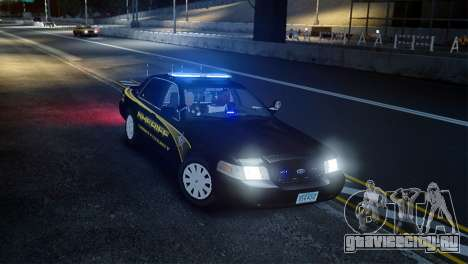Ford Crown Victoria Sheriff LC [ELS] для GTA 4 вид справа