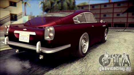 GTA 5 Dewbauchee JB 700 для GTA San Andreas вид слева