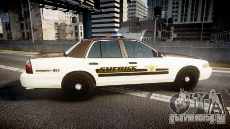 Ford Crown Victoria Liberty Sheriff [ELS] для GTA 4 вид слева