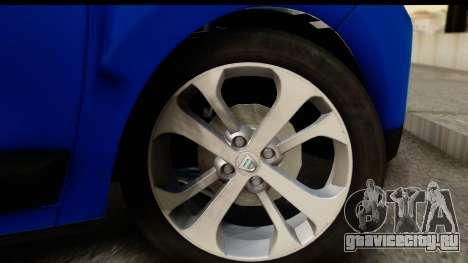 Dacia Lodgy 2014 для GTA San Andreas вид сзади