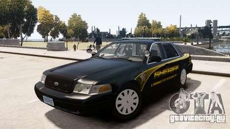 Ford Crown Victoria Sheriff LC [ELS] для GTA 4