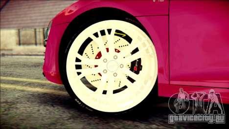 Audi R8 V10 Plus 5.2 FSI 2013 для GTA San Andreas вид сзади слева