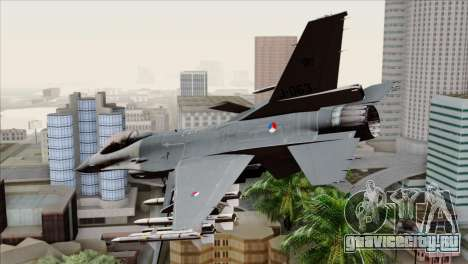 F-16AM Fighting Falcon для GTA San Andreas вид слева