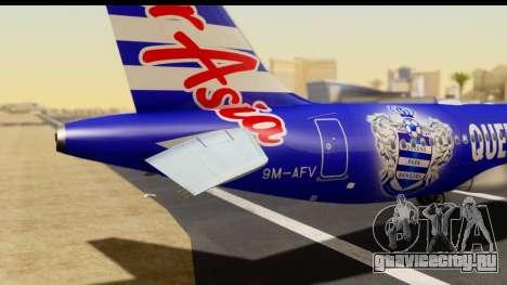 Airbus A320-200 AirAsia Queens Park Rangers для GTA San Andreas вид сзади