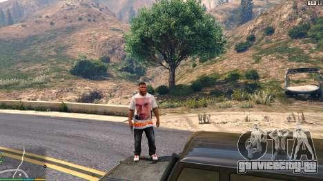 Футболка для Франклина - Физрук для GTA 5 восьмой скриншот