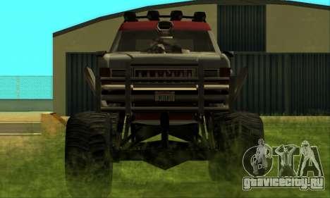 Hellish Extreme CripVoz RomeRo 2015 для GTA San Andreas вид изнутри