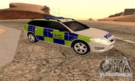 Форд Мондео Кент Полиции для GTA San Andreas вид сзади слева