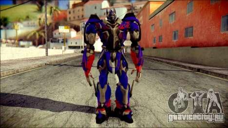 Optimus Prime Skin from Transformers для GTA San Andreas