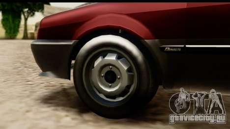 GTA 5 Dinka Blista Compact для GTA San Andreas вид изнутри