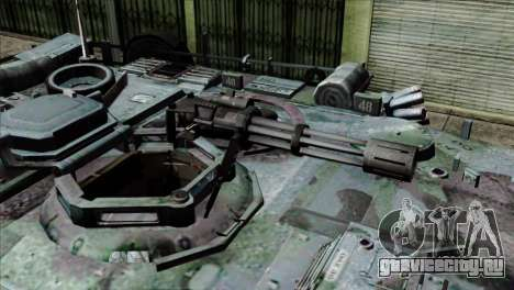 M1A2 Abrams Woodland Blue Camo для GTA San Andreas вид сзади