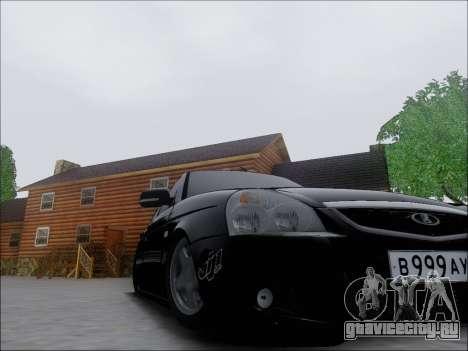 Lada Priora Hatchback для GTA San Andreas вид изнутри