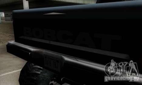 Monster Bobcat для GTA San Andreas вид сзади
