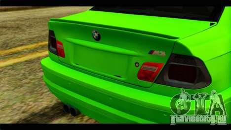 BMW M3 E46 Stock для GTA San Andreas вид сзади